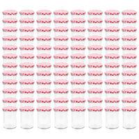 vidaXL Staklenke za džem s bijelo-crvenim poklopcima 96 kom 400 ml