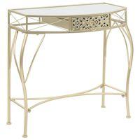 vidaXL Bočni stolić u francuskom stilu metalni 82 x 39 x 76 cm zlatni