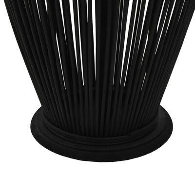 vidaXL Viseći svijećnjak od bambusa crni 95 cm