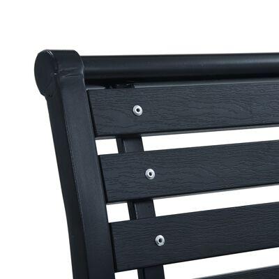 vidaXL Vrtne stolice 2 kom crne od čelika i WPC-a