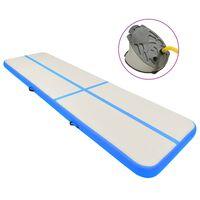 vidaXL Strunjača na napuhavanje s crpkom 800 x 100 x 15 cm PVC plava