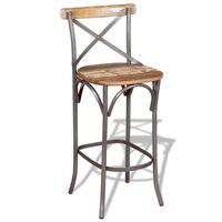 vidaXL Barski stolac od masivnog obnovljenog drva