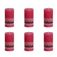 Bolsius rustikalna stupna svijeća 130 x 68 mm Ružičaste 6 kom