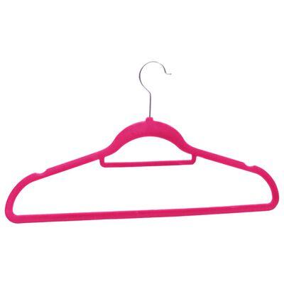 vidaXL 100-dijelni set vješalica protuklizni ružičasti baršunasti