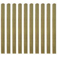 vidaXL Impregnirane letvice za ogradu 20 kom 120 cm drvene