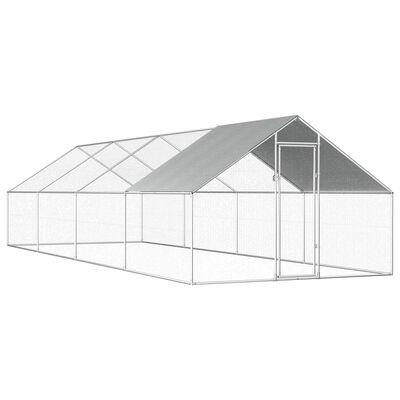 vidaXL Vanjski kavez za kokoši od pocinčanog čelika 2,75 x 8 x 1,92 m