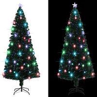 vidaXL Umjetno božićno drvce sa stalkom LED 210 cm 280 grančica