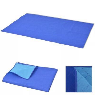 vidaXL Deka za Piknik Plava i Svijetlo Plava 150x200 cm