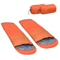 vidaXL Lagane vreće za spavanje 2 kom narančaste 15 ℃ 850 g