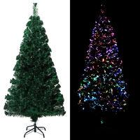 vidaXL Umjetno božićno drvce sa stalkom zeleno 150 cm optička vlakna