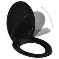 vidaXL Toaletna daska s mekim zatvaranjem i brzim otpuštanjem crna