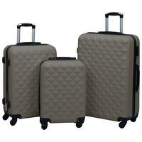 vidaXL 3-dijelni set čvrstih kovčega antracit ABS
