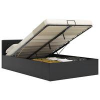 vidaXL Hidraulični okvir za krevet od umjetne kože crni 140 x 200 cm