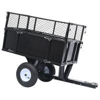 vidaXL Nagibna prikolica za traktorsku kosilicu nosivost 150 kg
