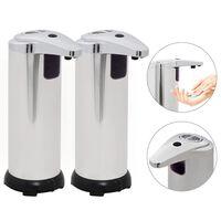 vidaXL Automatski dozatori za sapun 2 kom s infracrvenim senzorom 600 ml