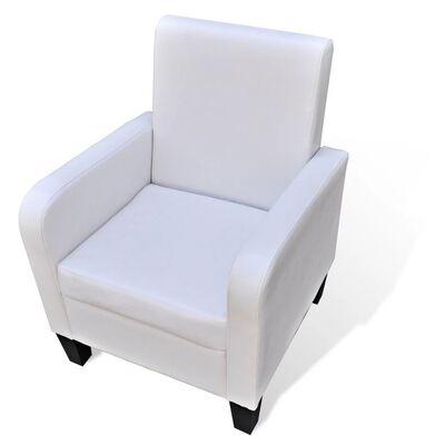 vidaXL Fotelja od umjetne kože bijela