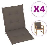 vidaXL Jastuci za vrtne stolice 4 kom smeđe-sivi 100 x 50 x 7 cm