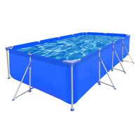 Above Ground Swimming Pool Steel Frame Rectangular 394 x 207 x 80 cm
