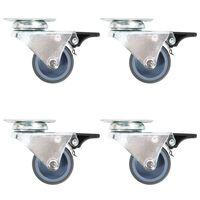 vidaXL Udvojeni okretni kotačići s dvostrukim kočnicama 4 kom 50 mm