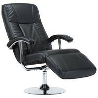 vidaXL TV fotelja od umjetne kože crna
