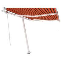 vidaXL Automatska tenda sa senzorom LED 350 x 250 cm narančasto-smeđa