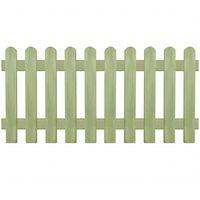 vidaXL Ograda od kolaca od impregnirane borovine 170 x 80 cm 6/9 cm