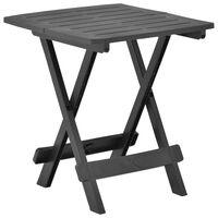 vidaXL Sklopivi vrtni stol antracit 45 x 43 x 50 cm plastični
