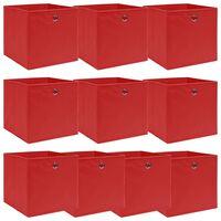 vidaXL Kutije za pohranu 10 kom crvene 32 x 32 x 32 cm od tkanine