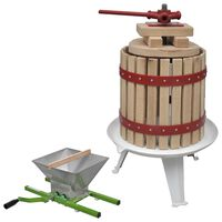 vidaXL 2-dijelni set preše i drobilice za voće i vino