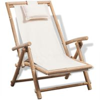 vidaXL Vrtna stolica od bambusa