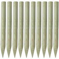 vidaXL Stupovi za ogradu 10 kom drveni 100 cm