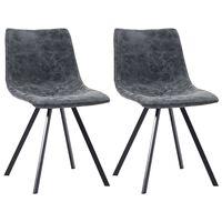 vidaXL Blagovaonske stolice od umjetne kože 2 kom crne