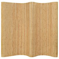 vidaXL Sobna pregrada od bambusa 250 x 165 cm prirodna