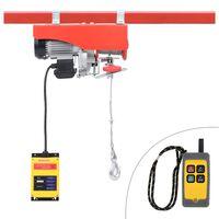 vidaXL Električna dizalica s daljinskim upravljačem 1300 W 500/999 kg