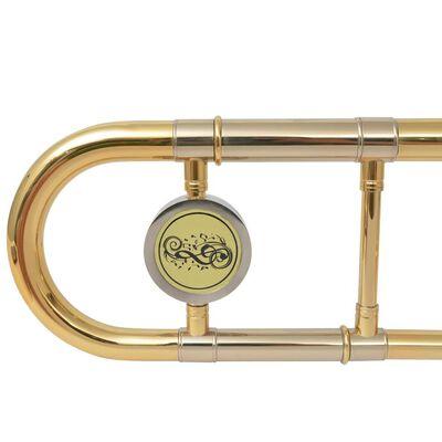 vidaXL Trombon Žuti mesing sa zlatnim lakom Bb