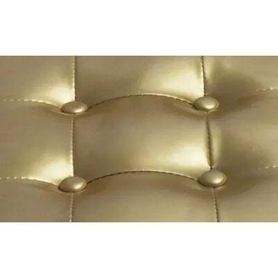 vidaXL Fotelja od umjetne kože s osloncem za noge zlatna