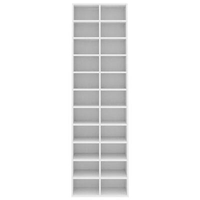 vidaXL Ormarić za cipele bijeli 54 x 34 x 183 cm od iverice