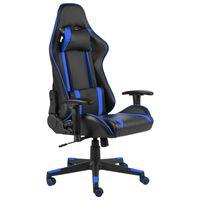 vidaXL Okretna igraća stolica plava PVC