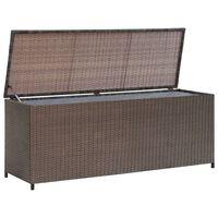 vidaXL Vrtna kutija za pohranu od poliratana smeđa 120 x 50 x 60 cm