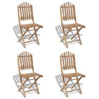 vidaXL Vrtne sklopive stolice 4 kom bambus