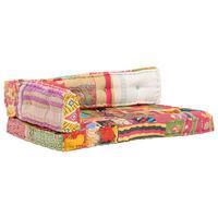 vidaXL Jastuk za paletni kauč raznobojni od tkanine s patchworkom