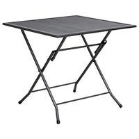 vidaXL Sklopivi mrežasti stol 80 x 80 x 72 cm čelični antracit
