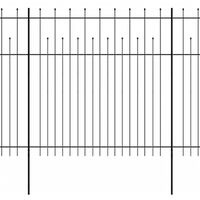 vidaXL Ograda od čelika sa šiljastim vrhovima 600 x 200 cm crna