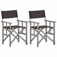 vidaXL Redateljske stolice od masivnog bagremovog drva
