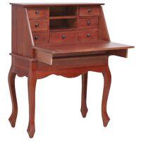 vidaXL Pisaći stol smeđi 78 x 42 x 103 cm od masivnog drva mahagonija