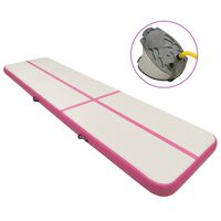 vidaXL Strunjača na napuhavanje s crpkom 700 x 100 x 15 cm PVC roza