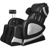 vidaXL Masažna fotelja od umjetne kože crna sa ekranom