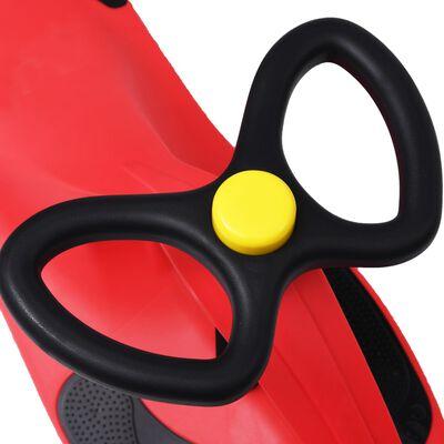 vidaXL Okretni dječji automobil na guranje s trubom crveni