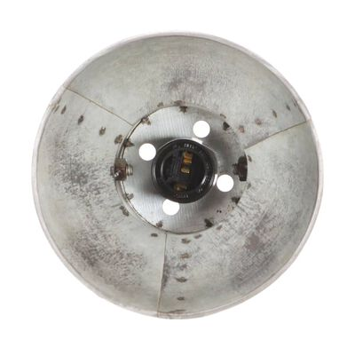 vidaXL Industrijska zidna svjetiljka srebrna 90 x 25 cm E27