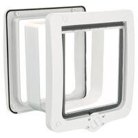 TRIXIE 4-smjerna preklopna vratašca za mačke s tunelom XXL bijela